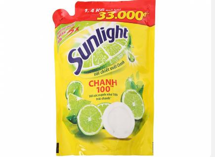 Sử dụng chanh + nước rửa bát (sunlight) + nước