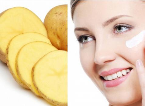 Khoai tây cắt lát giảm bọng mắt