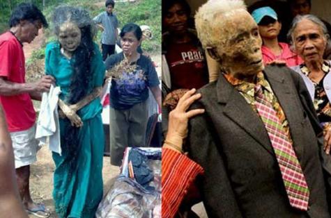 Hủ tục dẫn xác chết về nhà ở Indonesia